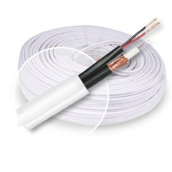 ROLLO CABLE COAXIAL RG59 BLANCO